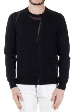 MM10 Cardigan effect Cotton Sweater