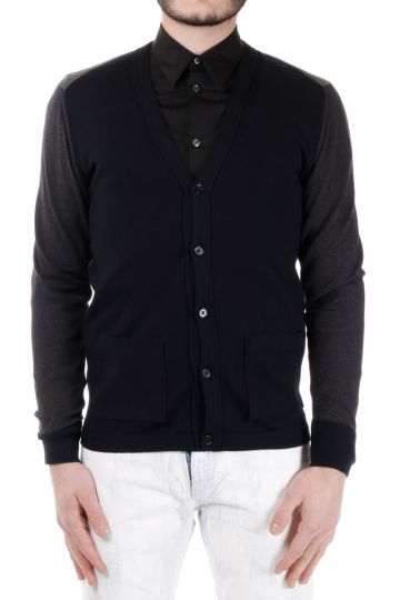 MM14 Tricolour Cotton Cardigan