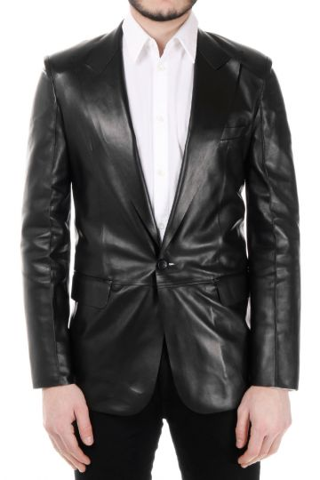 MM14 Leather Blazer