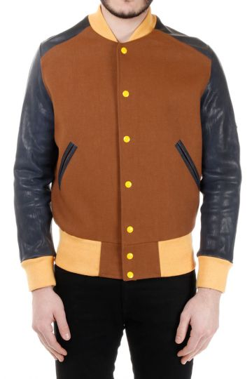 MM14 Virgin Wool Blend and Leather Jacket