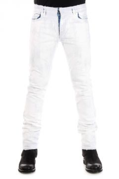 MM10 18 cm Painted Denim Jeans