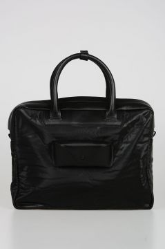 Fabric and Leather Business Bag