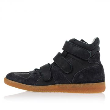 Suede Leather High Sneakers