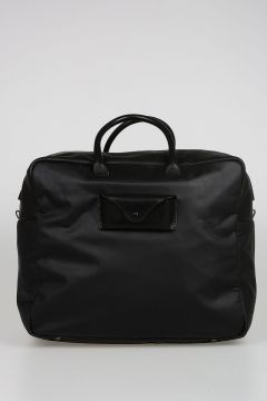 Fabric and Leather Weekend Bag