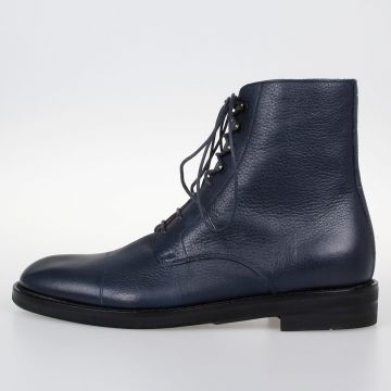 MM22 Grained Leather Ankle Boots