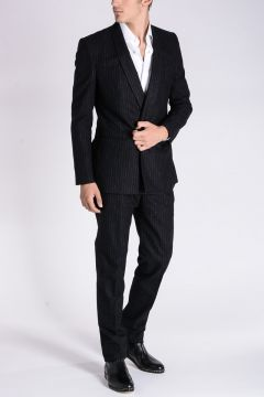 Cotton And Virgin Wool Blend Suit