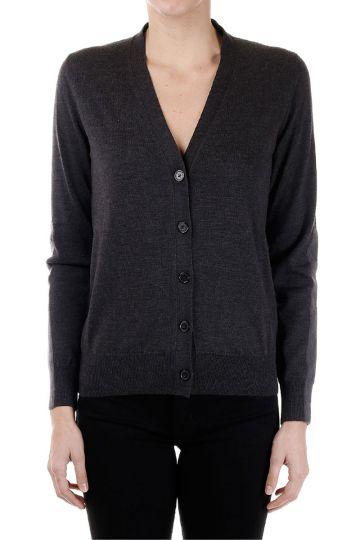 MM4 V neck wool Cardigan