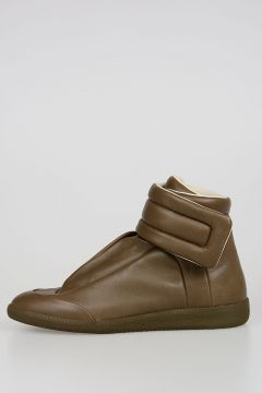 High Top Sneakers in Leather