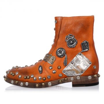 MM22 Leather Studded Boot