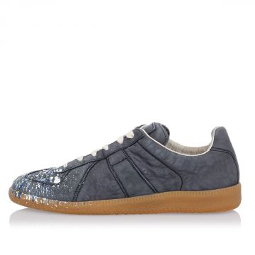 MM22 Sneakers in Pelle con Schizzi di vernice