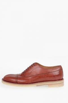 Brusched Leather Laced Shoes
