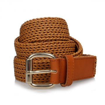 MM11 Plaited Leather Belt 3,5 cm