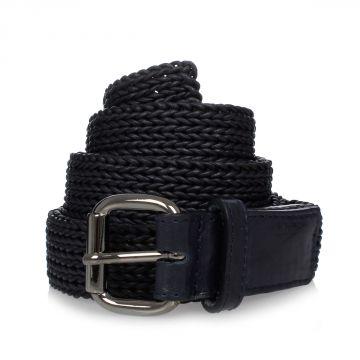 MM11 Cintura in Pelle Intrecciata 4,5 cm