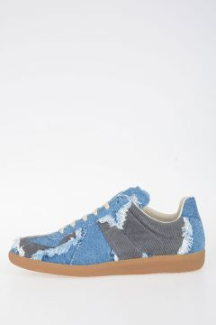 MM22 Velvet Denim Sneakers