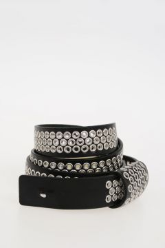 MM11 30 mm Leather Belt with Eyelets