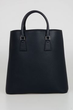 Textured Leather Shopping Bag