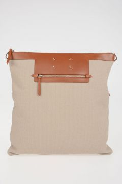 MM11 Leather and Cotton bag