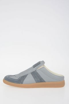 MM22 Leather Sneakers With Suede Details