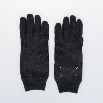 MM14 Wool Gloves with Leather Details