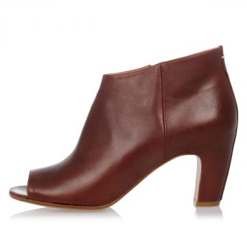 MM22 Leather Ankle Boot 8 cm