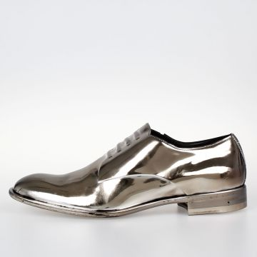 MM22 Metallic Leather Mocassins