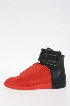 MM22 Bicolor Leather High Sneakers