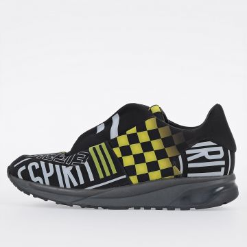 MM22 Techno Fabric & Leather Sneakers