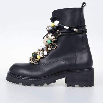 MM22 Leather Embellished Boots