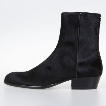 MM22 Real Fur Ankle Boots