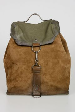 Canvas and Suede Backpack