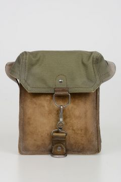 Suede and Canvas Crossbody Bag