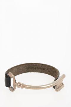 MM11 Silver & Leather Bracelet