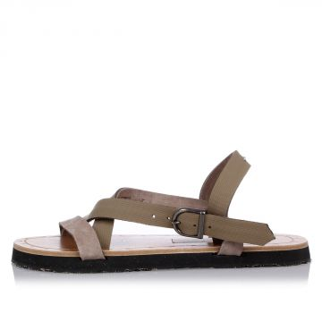 MM22 RUARACE Leather Sandals