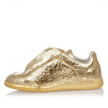 MM22 gold Tone Leather Sneakers