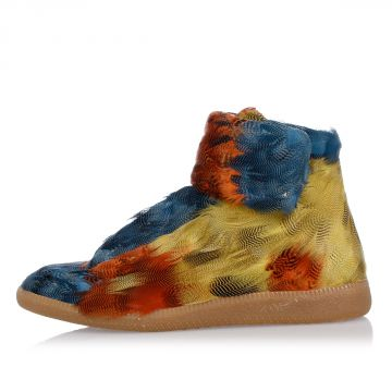 MM22 Leather and Feathers high top Sneakers