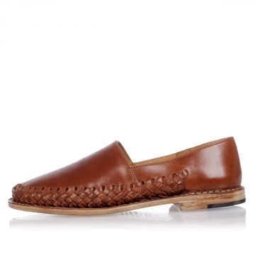 MM22 Woven Leather Slip On