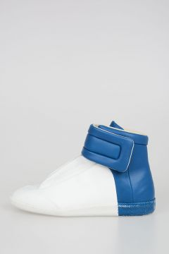Leather High Top Two Tones Sneakers