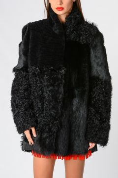 Real Fur Jacket With Long Sleeves