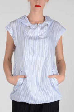 MM1 Striped Hoodie Sleeveless Top