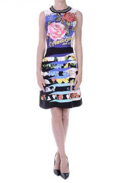 LIYALI Cotton and Silk Printed Dress