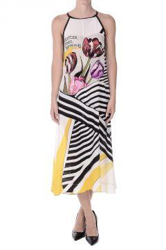 REBEL Printed Silk Dress