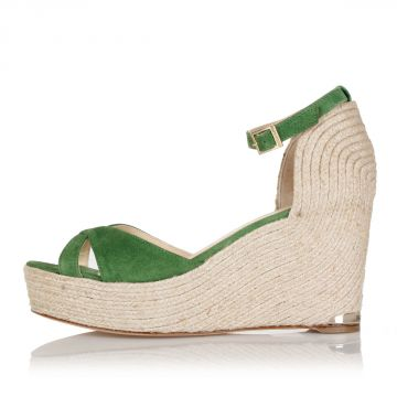 14 cm wedge suede sandals