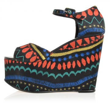 Multicolor BERTA Sandal with Wedge 12.5 cm