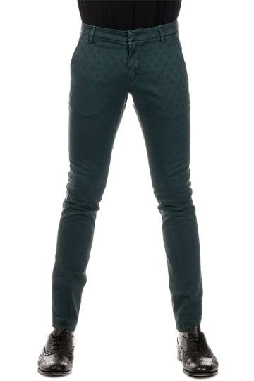 Embroidered Stretch Cotton Trousers