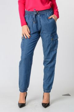 Pantalone in Denim In Misto Cotone