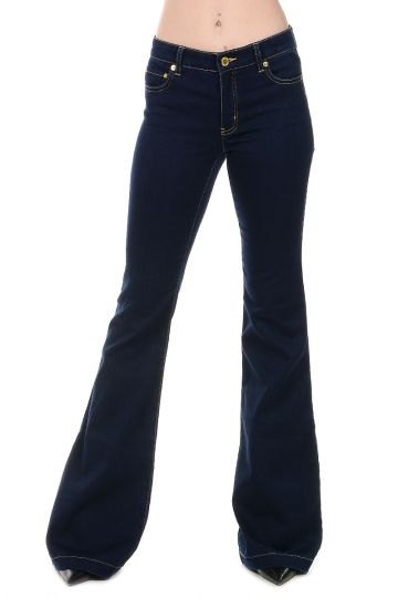 Jeans Boot cut in denim Stretch 29 cm
