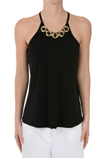 Sleeveless Top with Applications