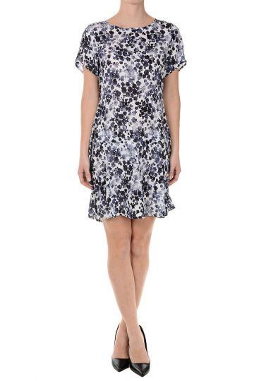 Floral Printed Silk Dress