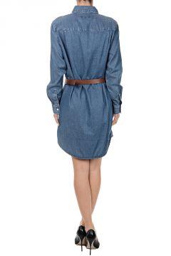 Cotton Blend Shirt Dress