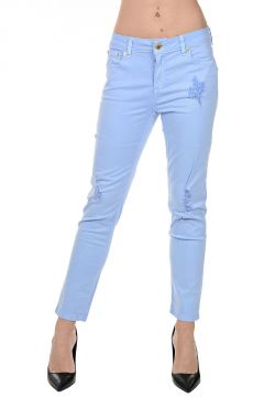 Pantaloni Crop in Cotone Stretch